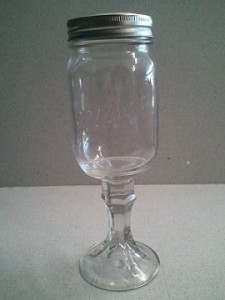 Redneck wine and beer glassware